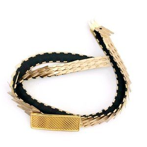 VINTAGE Women's Gold Skinny Stretchy Waist Belt